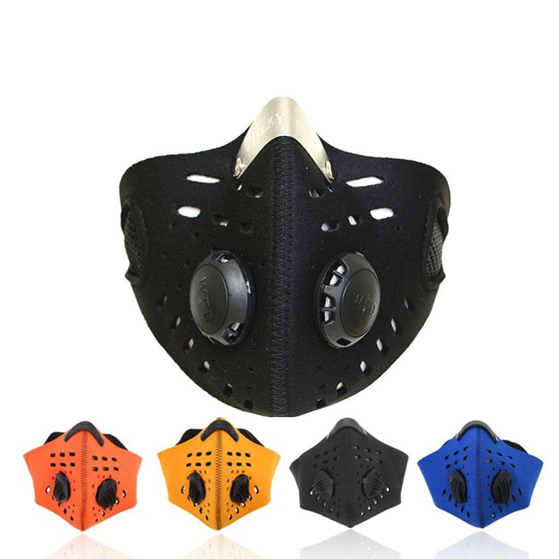 2019 Skis Mask Cycling Masks With Filter Half Face Carbon Mountain Bicycle Sport Road Cycling Masks Face Cover