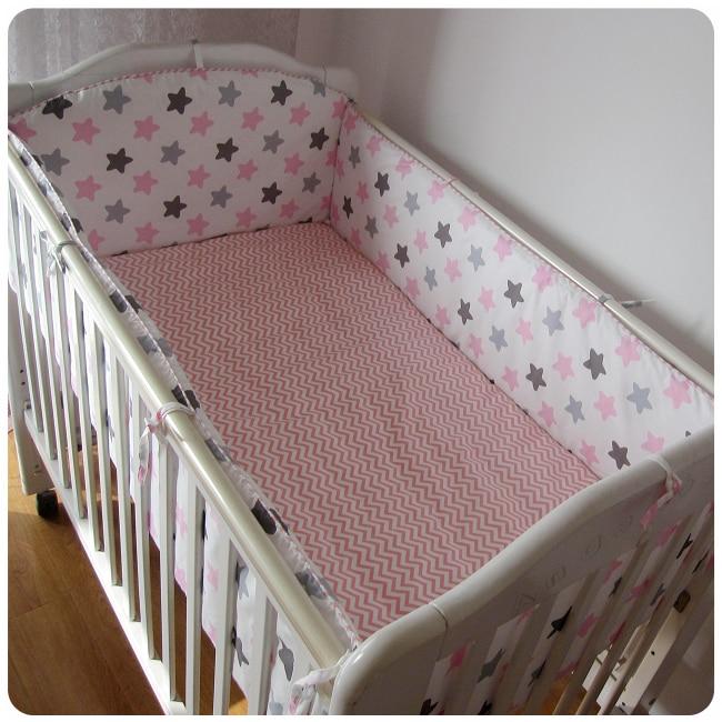 Promotion! 6PCS Baby Cot Bedding Set Baby Nursery Cot Bedding Crib Bumper (bumpers+sheet+pillow cover) promotion 6pcs baby bedding set cot crib bedding set baby bed baby cot sets include 4bumpers sheet pillow