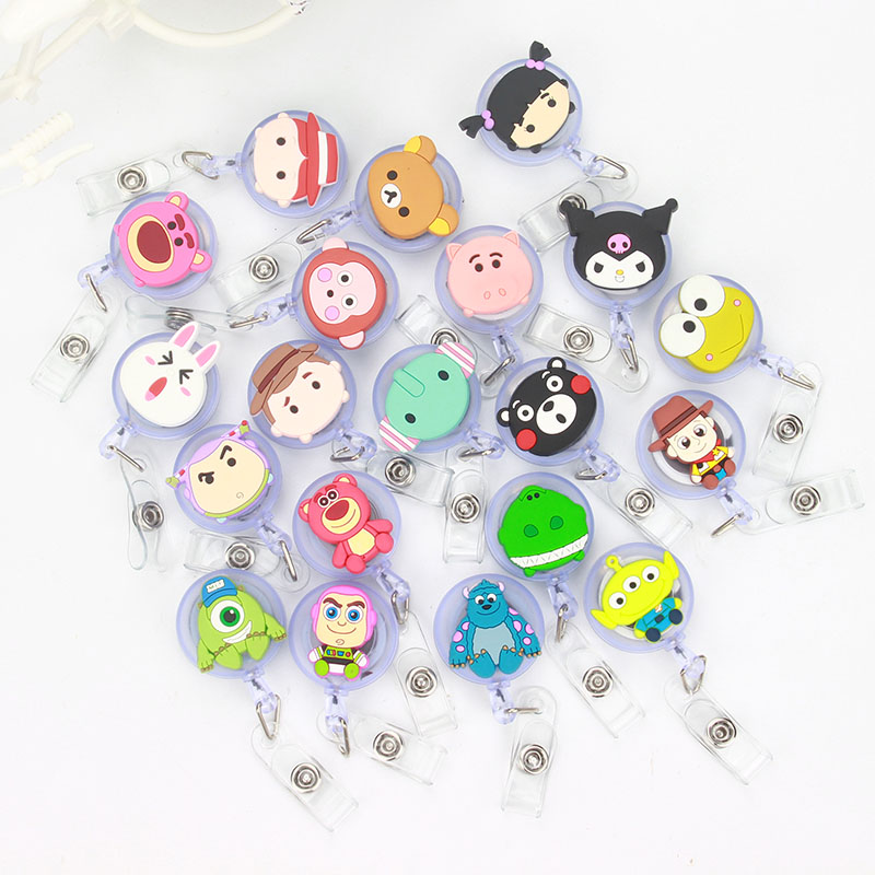 50pcs lot 2018Cute Toy Story Design Nurse Retractable Badge Reel Pull ID Card Badge Holder Belt