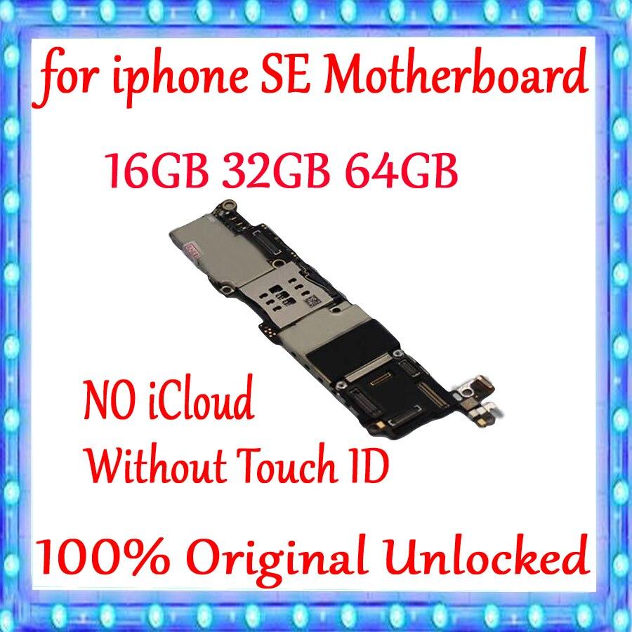Senza Touch ID per iphone 5SE SE Scheda Madre 16 GB/32 GB/64 GB/128 GB, 100% sbloccato Originale per iphone SE MainboardSenza Touch ID per iphone 5SE SE Scheda Madre 16 GB/32 GB/64 GB/128 GB, 100% sbloccato Originale per iphone SE Mainboard