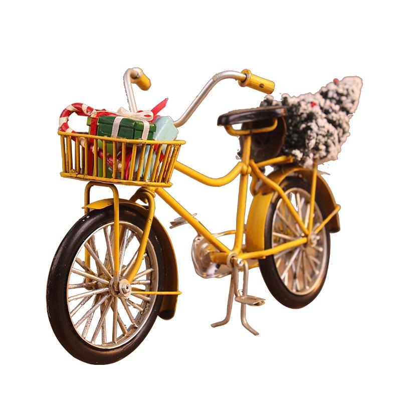 Bicycle Figurine For Friend Best Gifts Children Birthday Toy Present Desktop Crafts Home Decoration Retro Metal Bike Model Craft
