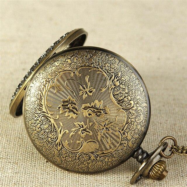 OTOKY Pocket Watch Men Vintage Bronze Tone Spider Web Design Chain Pendant Pocket Watch Gift Drop Shipping 80108
