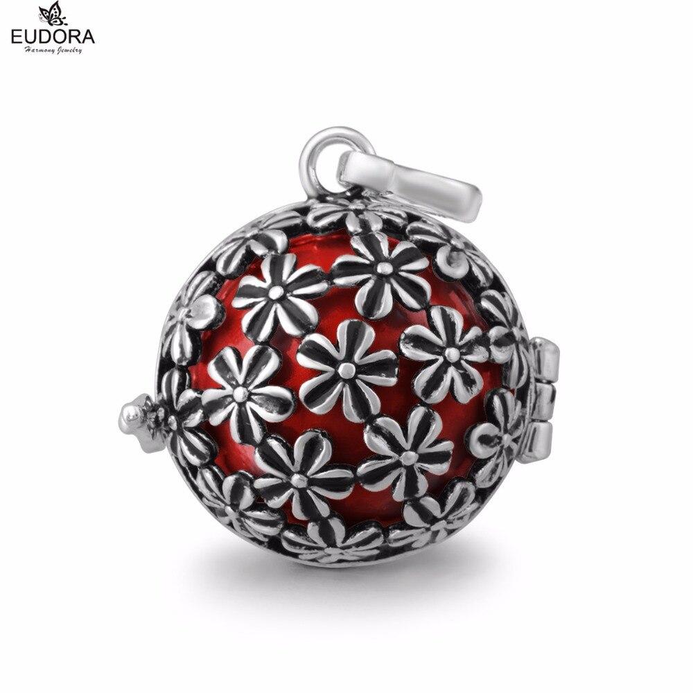 Blackened encanto Flor del carillón Eudora Harmony Ball engelsrufer  flotante lockets colgante boleadoras mexicanas joyería para embarazada cdcc7275fc439
