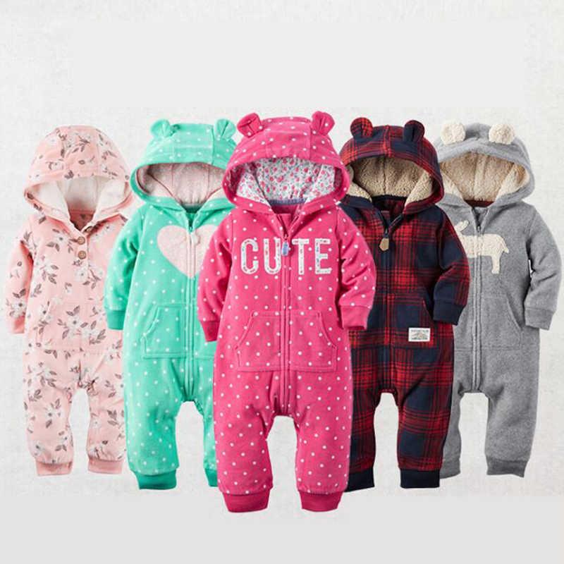 826b811cd Bebé recién nacido bebé Rompers 2018 otoño e invierno cálido bebé niños ropa  de bebé de