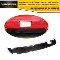 סיבי פחמן רכב אחורי פגוש שפתיים ספוילר מפזר עבור פולקסווגן פולקסווגן גולף 5 GTI רק 2005 2006 2007