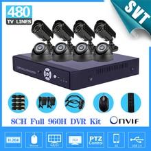 Home 8 channel CCTV Camera System 8CH full 960h D1 security DVR recorder 480TVL Outdoor indoor Camera Surveillance Kit SK-074