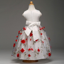 Высокое качество пользовательские детей для девочек свадебное платье для лета для вечеринки, дня рождения детей Pageant Vestido для Костюмы Платья для женщин