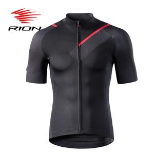 Image 1 - RION Ciclismo Pullover da Uomo Maniche Corte Bicicletta Da Corsa In Discesa Magliette E Camicette Retro 2018 MTB Mountain Bike Motore T camicia Camisa ciclismo