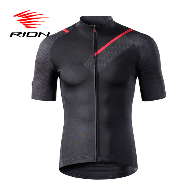 RION Cycling Men's Jerseys Short Sleeves Bicycle Racing Downhill Tops Retro 2018 MTB Mountain Bike Motor T shirt Camisa Ciclismo