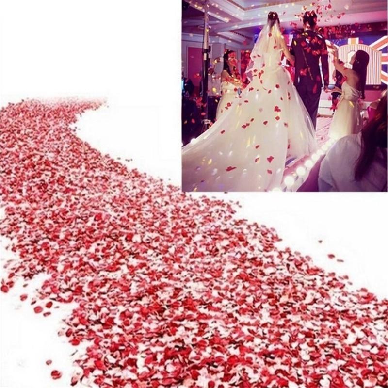 500Pc Silk Rose Artificial Flowers Romantic Wedding Decoration Petals Bed Table Flowers Bachelorette Party Decoration Mariage. Q