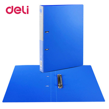 Deli 1pcs A4 Document File Folder PP Clip Pad Board Holder Paper File Book Document Bag Student Stationery Folder With Clip deli 1pc plastic file folder student document storage bag school stationery expanding wallet document organizers school supplies