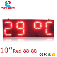 led countdown display 10 inch red display led digital board outdoor time sign