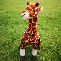 National Geographic stuffed giraffe for children green and safe material ki toys high quality birthday gift