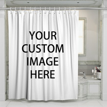 3D Custom Pattern Beach Shower Curtain Bathroom Waterproof Polyester Printing Curtains for