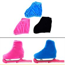 3 Colors Athletic Child Adult Velvet Ice Skating Figure Skating Shoes Cover Blade Cover Solid Rollar Skate Shoes Accessories