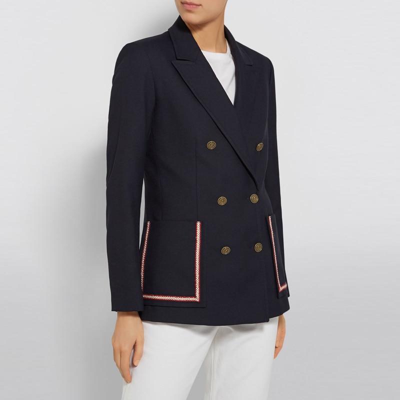2019 Neue Frauen Doppel Tasche Blazer Zweireiher Mode Büro Dame Mantel Und Jacke Anzüge & Sets Frauen Kleidung & Zubehör