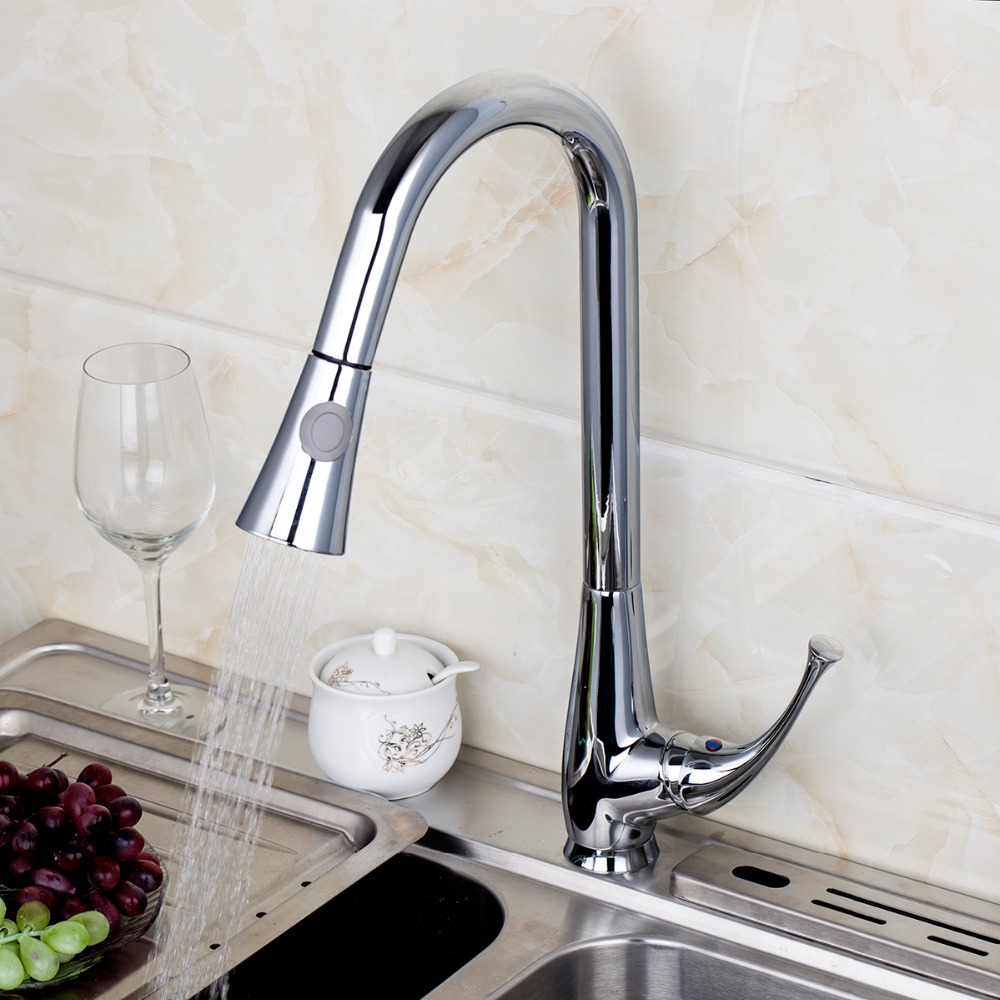 Mondern Kitchen Luxury Pull Out Swivel Faucet Chrome Polished Thermostatic Faucet Single Holder Single Hole Basin Sink FaucetMondern Kitchen Luxury Pull Out Swivel Faucet Chrome Polished Thermostatic Faucet Single Holder Single Hole Basin Sink Faucet