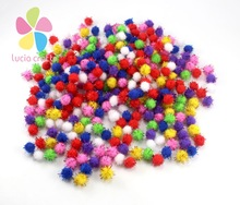 144pcs 10mm  Chenille Stems Bendaroos Christmas Plush Ball Hair Root Diy Children Toys Wholesale 22010008(10HS144)