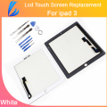 LL TRADER White Tested Quality AAA Replacement for ipad 3 or ipad 4 Touch Screen Digitizer Glass + Adhensive Free Tools + Ship