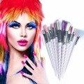 RCMEI Nuevo 10 unids Pinceles de Maquillaje Kits de Herramientas de Mango De Plástico de Belleza Cosméticos Fundación Blending Blush componen sistema de Cepillo