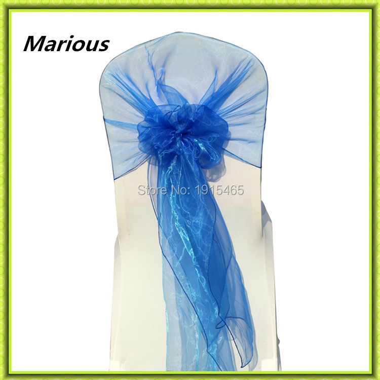Marious Brand 2018 Marious hot sale 60*200cm organza chair hood wedding chair cover sashes for banquet free shipping