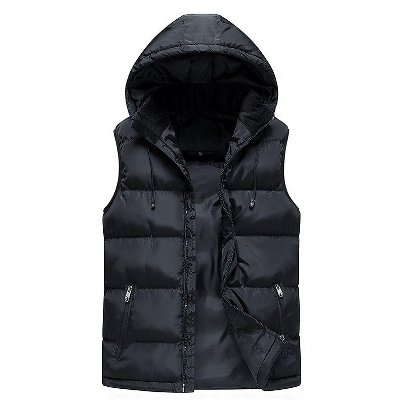 2018 Neue Frühling Herbst Ärmellose Jacke Für Männer Mode Warme Mit Kapuze Männlichen Winter Weste Licht Plus Größe Mens Arbeit Westen Weste Verbraucher Zuerst