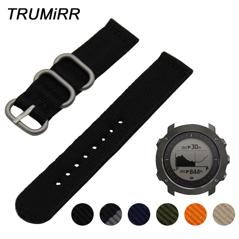 24mm Nylon Watchband for Suunto TRAVERSE Watch Band Zulu Strap Fabric Wrist Belt Bracelet Black Blue Brown + Tool + Spring Bars купить в Москве 2019