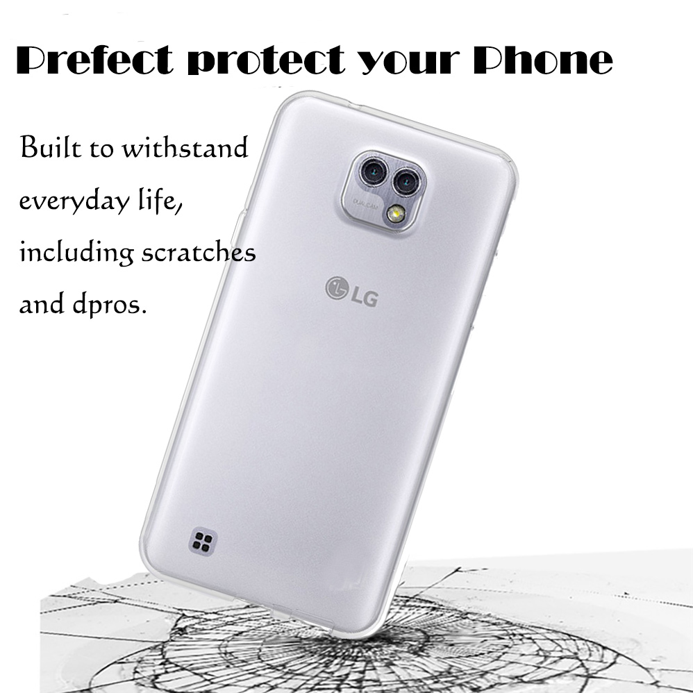 For LG x cam K580 / x style K200DS/ x max Ultra Thin Soft TPU Silicon Gel Transparent Case Back Cover
