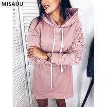 MISAUU S-3XL 2018 Fashion Winter Sweatshirt Dress Hoodies Women Girls Loose Oversized Sweatshirts Femme sudadera mujer Plus Size