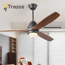 TRAZOS Led Ceiling Fan With Lights For Living Room Ventilateur de plafon 220V Fans Lamp Bedroom Cooling Lighting