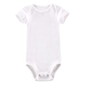 Image 5 - 5 개/몫 아기 Bodysuits 신생아 옷 몸 Bebe 짧은 소매 흰색 여름 브랜드 새로운 유아 Jumpsuit 아기 소녀 소년 옷