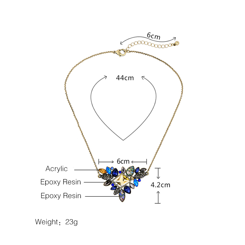 Rhinestone vintage necklace - details