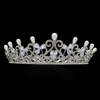 Big Size Royal Wedding Bride Crown Tiara Hair Accessories Jewelry Pageant Genuine Austrian Crystals SHA8776
