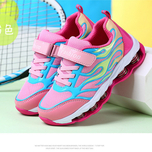 2333aa00828b kid sneaker 2018 fall new style breathable PU net cloth running shoes  outdoor antiskid damping spring boys sneakers size10.5-8