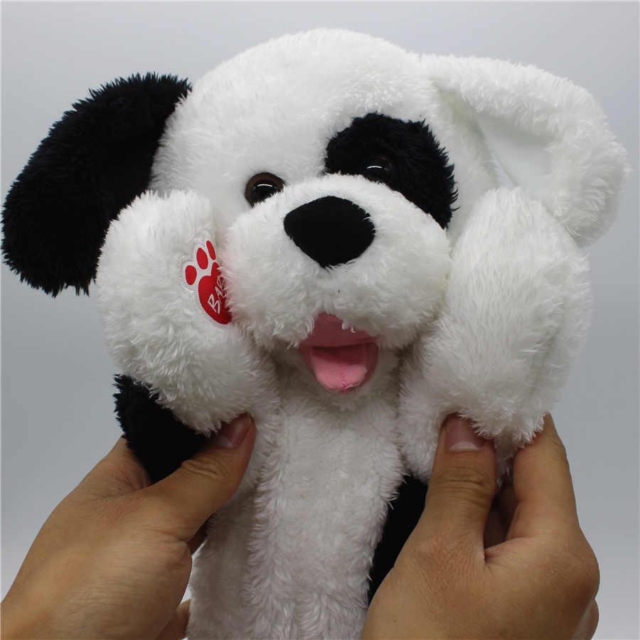 1 Pcs 40 Cm Lucu Anjing Anjing Yang Warna Hitam Dan Putih Hewan Boneka Boneka Lembut Besar Hadiah Natal Aliexpress