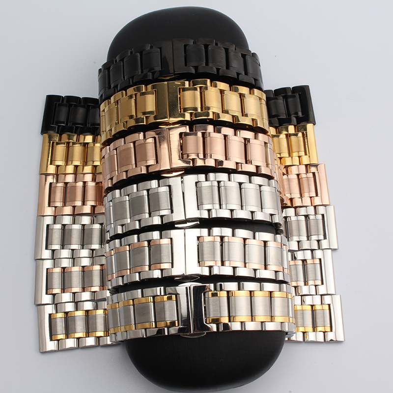14mm 16mm 17mm 18mm 19mm 20mm 21mm New silver / gold or rose gold straight end Solid stainless steel Watch Band strap bracelets