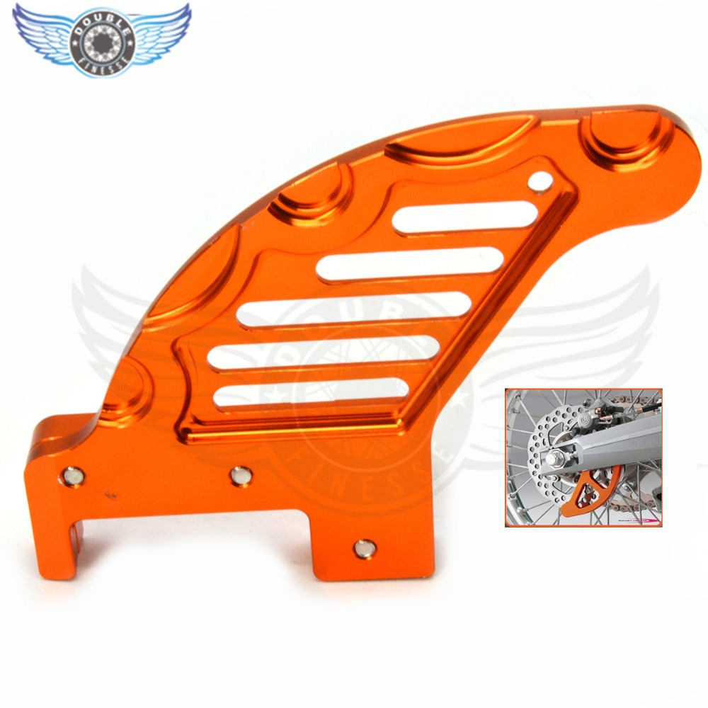 ORANGE CNC REAR BRAKE DISC GUARD For KTM 150 200 250 300 350 400 450 525 530 EXC EXC-F SX SX-F XC XCF XCW MXC 2004-2017 motorcycle front and rear brake pads for ktm xc exc 200 2004 2008 xc exc 250 400 450 2004 2007 black brake disc pad