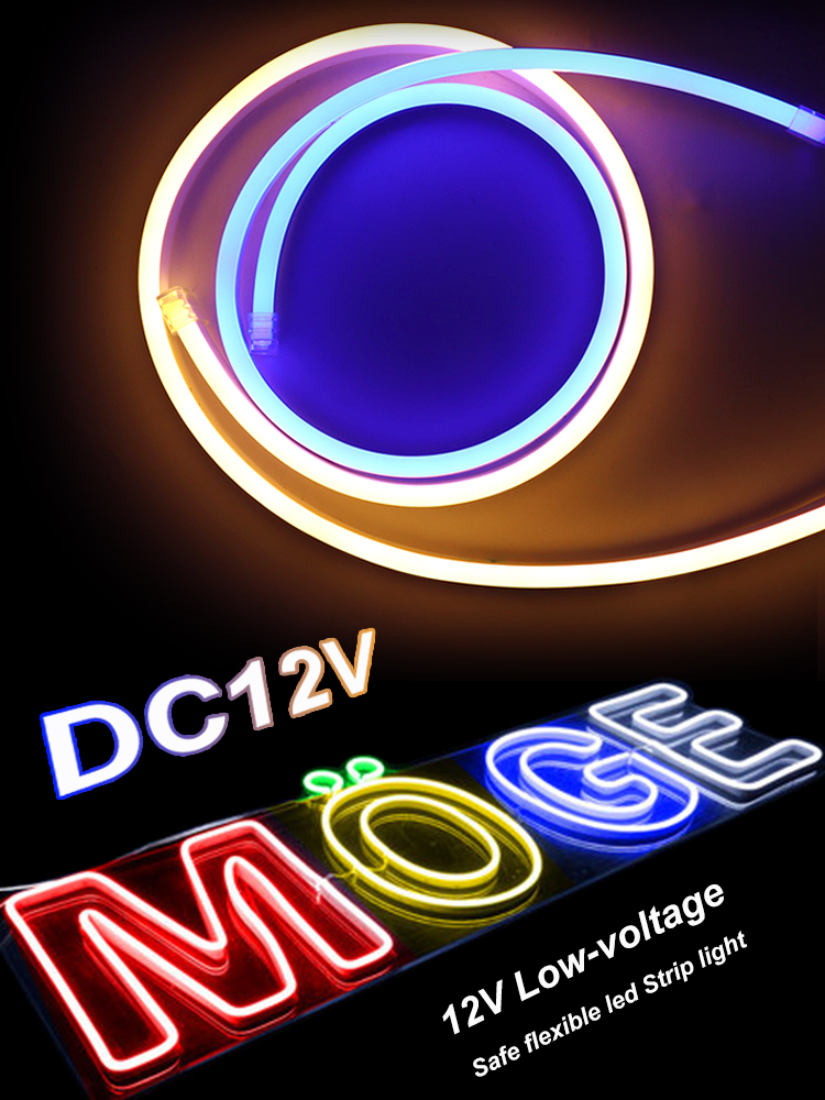 LED 12V Neon Strip Light 1/2/3/4/5/6/7/8/9/10M Waterproof Tube RGB Neon Lights for Rooms Sign Signboard Home Decor Lamps JQ image