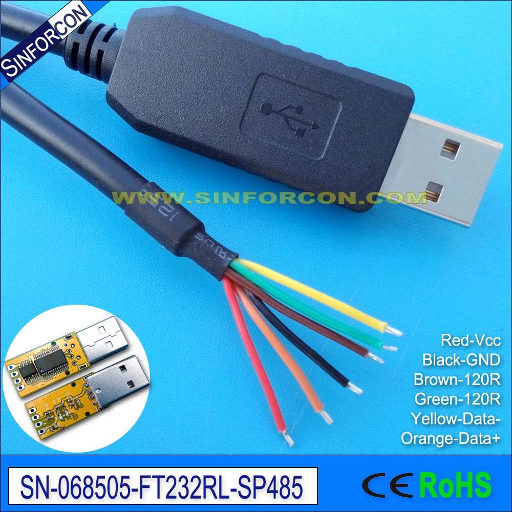 Win8 win10 Android Mac FTDI ft232rl USB RS485 cable adaptador USB compatible RS485 que 1800 BT