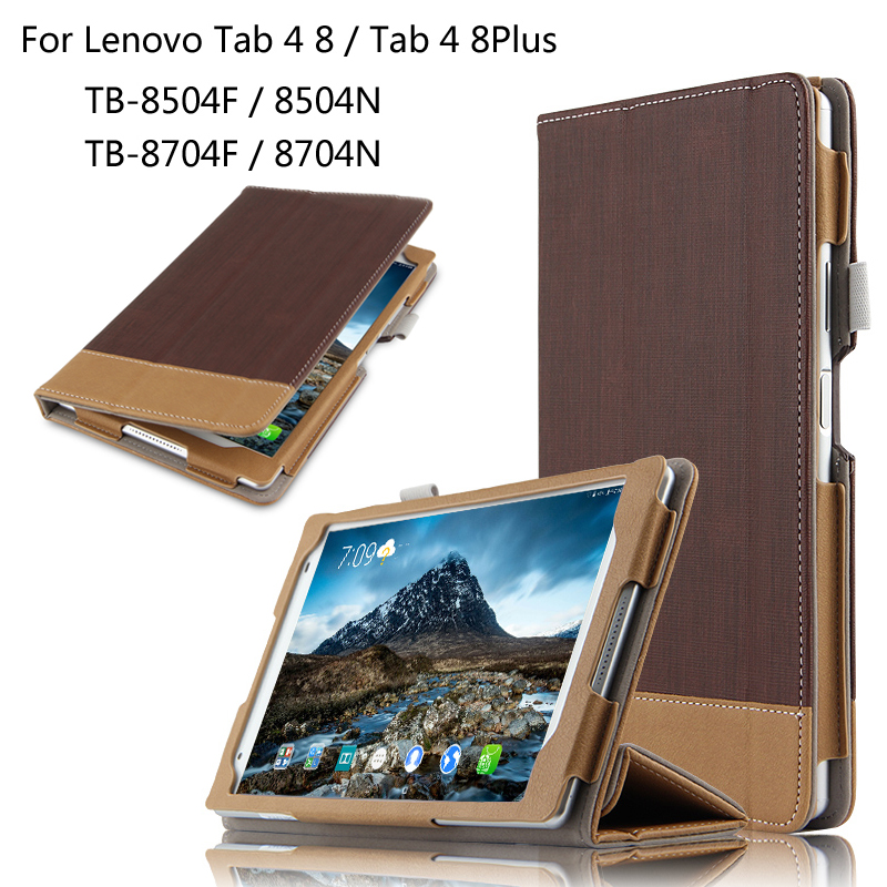 Fashion Splice Colorful Book Stand Flip PU Leather Case Cover For Lenovo TAB 4 8 / 8 Plus TB-8704F/N TB-8504F/N 8.0 inch Tablet magnet flip stand case for lenovo tab4 8 plus smart pu leather case for lenovo tab 4 8 plus tb 8704n tb 8704f tablet case