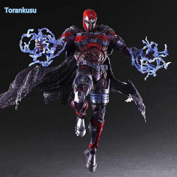 Magneto Play Arts Kai Action Figure Erik Lehnsher Max Eisenhardt PVC Model Toy 260MM X-MEN Magnus Playarts Kai Figure Doll PA33 tobyfancy play arts kai pa marcus fenix game gears of war 3 war machine action figure collection model toy 260mm