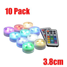 Submersible LED Lights Flameless Candles Tea 1.5 cr2450 Battery Long Life Super Bright White Warm RGB Lamp