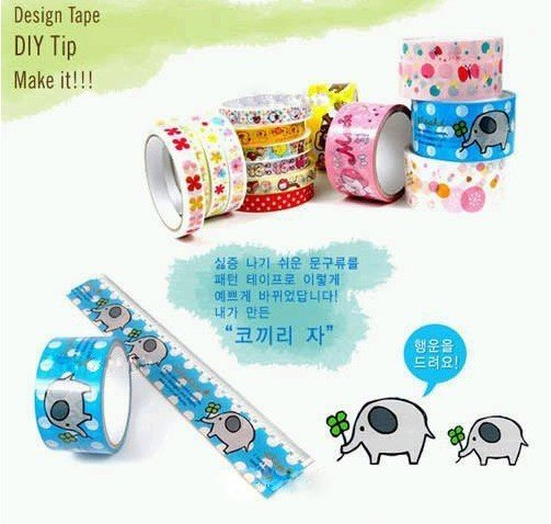 Free Shipping/cute cartoon color tape/stick tape/Office Adhesive Tape/Fashion New/wholesale