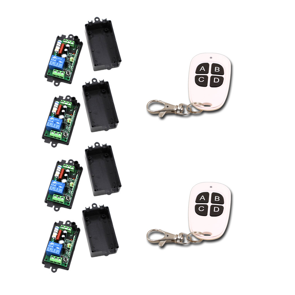 AC 110V 1CH Wireless Remote Control Switch 10A Relay 220V RF Remote Control System 315Mhz/433Mhz new ac 220v 30a relay 1 ch rf wireless remote control switch system toggle momentary latched 315 433mhz