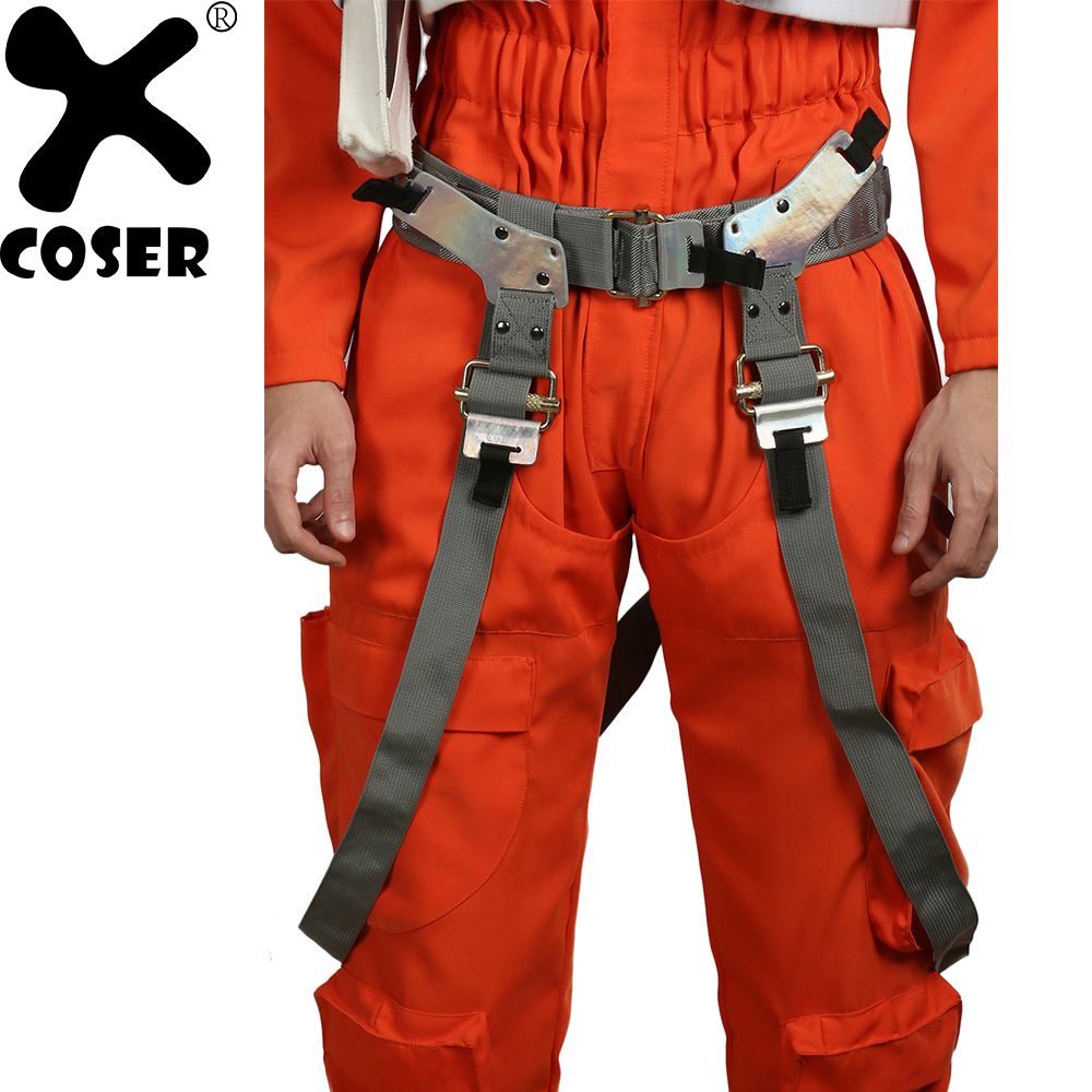 XCOSER Star Wars: The Force Awakens Cosplay Props Poe Dameron Brown PU Belt With Gun Holster Halloween Party Cosplay Accessories