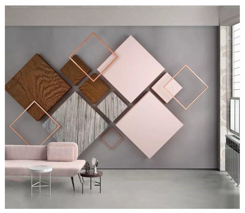 beibehang New fashion personality wallpaper 3d hexagonal mosaic modern minimalist geometric TV background wall papers home decor