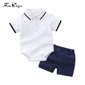 Tem Doger Baby Clothing Sets Newborn Baby Boy Clothes 2PCS Sets Summer Infant Boy T-shirts+Shorts Outfits Sets Bebes Tracksuit 1