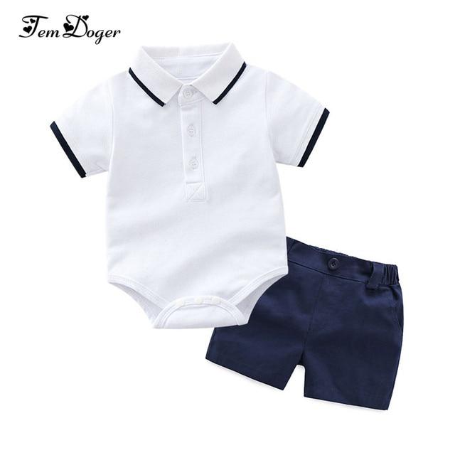 Tem Doger Baby Clothing Sets Newborn Baby Boy Clothes 2PCS Sets Summer Infant Boy T-shirts+Shorts Outfits Sets Bebes Tracksuit 1