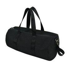 Черная Складная Большая спортивная сумка, спортивная сумка для мужчин и женщин, сумка для хранения мяча, спортивная сумка для фитнеса, йоги, переносная сумка на плечо, спортивная сумка KZ006L