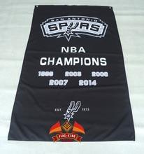 Custom flag The SAN Antonio spurs flag 3FTx5FT 150X90CM Banner 100D Polyester NBA flag